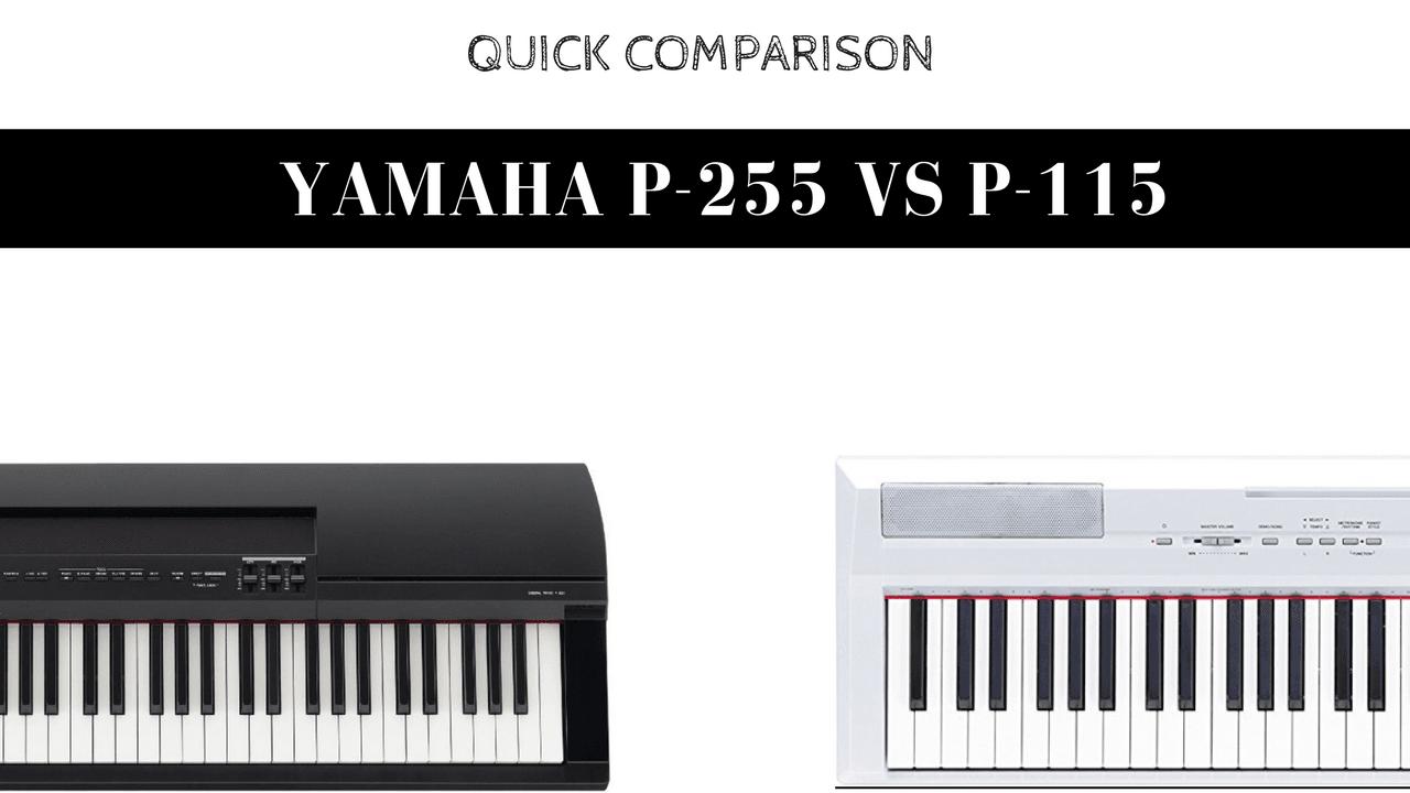 Yamaha p115 vs p255 digital pianos